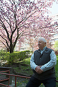 Vienna. Iouli Andreev, former Chief Liquidator during the Chernobyl nuclear catastrophe. Lives in Vienna with his wife, cat and one remaining lung. He enjoys the beautiful spring weather in the park in front of his appartment building - just as it was 25 years ago in Chernobyl.