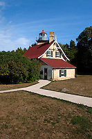 Eagle Bluff Lighthouse was built in 1868.  It is constructed of Cream City Brick.   Eagle Bluff is situated in Penisula State Park in Door County Wisconsin.