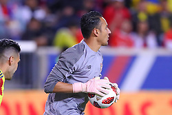 October 16, 2018 - Harrison, NJ, U.S. - HARRISON, NJ - OCTOBER 16:  Costa Rica goalkeeper Keylor Navas (1) during  the International Friendly Soccer Game between Colombia and Costa Rica on October 16, 2018 at Red Bull Arena in Harrison, NJ.  (Photo by Rich Graessle/Icon Sportswire) (Credit Image: © Rich Graessle/Icon SMI via ZUMA Press)
