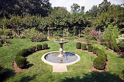 Garden, Weir Farm National Historic Site, former home of painter J. Alden Weir, Branchville, Connecticut.