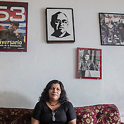 "Estela Marina Ramirez, 45 years old. She started working in a maquila when she was just 20 years old. In 2005, while she was working at the ""Hermosa"" factory, she couldn't take it anymore and decided to leave her job and found the LSI syndicate (Liga sindical internacional) in order to help protecting other workers from the abuses and discrimination they were suffering from. Since then, she became in El Salvador an important and respected figure in the fight against maquila's owners and in defense of the workers' rights."