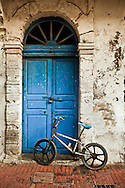 Moroccan Doorway with Child's Bicycle, Essaouira Morocco