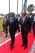 President Ramaphosa welcomed by President Kabila in Kinshasa - 12 Aug 2018