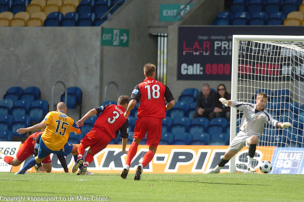 DYER SCORES MANSFIELDS GOAL, Mansfield Town v Kettering Town, Blue Square Premier Field Mill, Saturday 27th August 2011