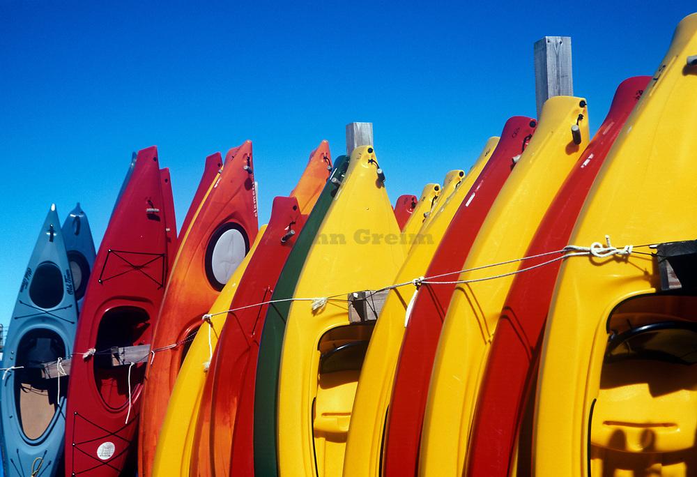 Colorful rental kayaks, East Orleans