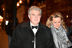 © Licensed to London News Pictures. 07/02/2018. London, UK. Conservative party chairman BRANDON LEWIS arrives at the Natural History Museum in London for the annual Black and White Ball, a fundraiser held by the Conservative Party. Photo credit: Ben Cawthra/LNP