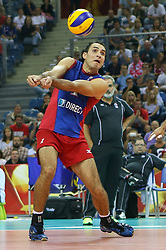 06.09.2014, Krakow Arena, Krakau, POL, FIVB WM, Puerto Rico vs Italien, Gruppe D, im Bild Jose Rivera (PUR) // during the FIVB Volleyball Men's World Championships Pool D Match beween Puerto Rico and Italy at the Krakow Arena in Krakau, Poland on 2014/09/06. EXPA Pictures © 2014, PhotoCredit: EXPA/ Newspix/ Tomasz Jastrzebowski<br /> <br /> *****ATTENTION - for AUT, SLO, CRO, SRB, BIH, MAZ, TUR, SUI, SWE only*****