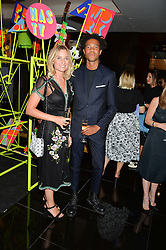 CHARLIE CASELY-HAYFORD and SOPHIE ASHBY at a dinner at The Bulgari Hotel, 171 Knightsbridge to celebrate The London Design Festival on 13th September 2016.