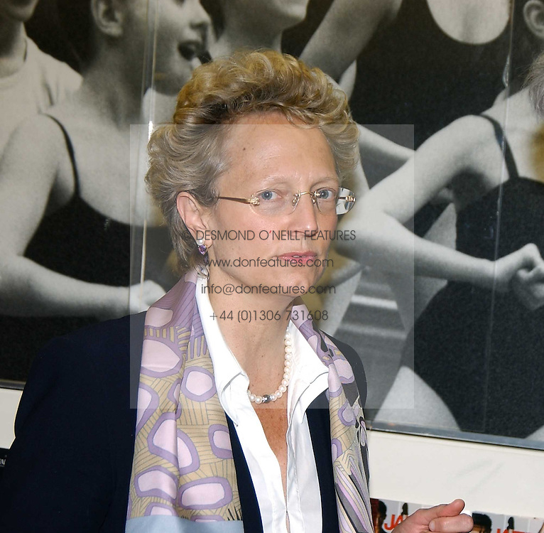 CLARA FURSE Chief Executive of the London Stock Exchange and her son RALPH FURSE at a performance by the London Childrens Ballet of 'The Little Princess' at The Peacock Theatre, Portugal Street, London WC2 on 19th May 2005.<br /><br />NON EXCLUSIVE - WORLD RIGHTS