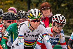 DE JONG Thalita (NED) waiting on the startline before the Women's race, UCI Cyclo-cross World Cup at Valkenbrug, The Netherlands, 23 October 2016. Photo by Pim Nijland / PelotonPhotos.com | All photos usage must carry mandatory copyright credit (Peloton Photos | Pim Nijland)