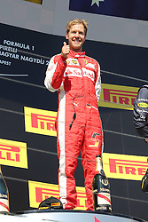 26.07.2015, Hungaroring, Budapest, HUN, FIA, Formel 1, Grand Prix von Ungarn, Rennen, im Bild Sebastian Vettel (Scuderia Ferrari) Daumen hoch // during the race of the Hungarian Formula One Grand Prix at the Hungaroring in Budapest, Hungary on 2015/07/26. EXPA Pictures &copy; 2015, PhotoCredit: EXPA/ Eibner-Pressefoto/ Bermel<br /> <br /> *****ATTENTION - OUT of GER*****
