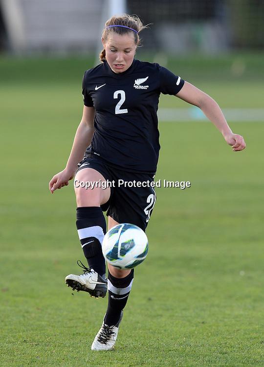 Holly Patterson in action. Junior Football Ferns v Young Matildas. Kristin School, Albany. Thursday 25 July 2013. Photo: Andrew Cornaga/Photosport.co.nz