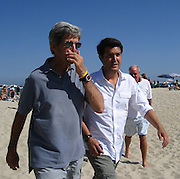 President hopeful and Massachusetts Senator John Kerry at Club 55 in St. Tropez, France..Sunday, August 05, 2007.Photo By Celebrityvibe.com.To license this image please call (212) 410 5354; or.Email: celebrityvibe@gmail.com ;.