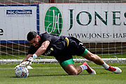 AFC Wimbledon goalkeeper Tom King (1) warming up before  the EFL Sky Bet League 1 match between Fleetwood Town and AFC Wimbledon at the Highbury Stadium, Fleetwood, England on 4 August 2018. Picture by Craig Galloway.