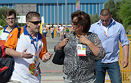 (L) Krzysztof Krukowski - Director Organizational Development Europe Eurasia Region Special Olympics and (R) Anna Komorowska - First Lady of Poland during 2011 Special Olympics World Summer Games Athens on June 27, 2011..The idea of Special Olympics is that, with appropriate motivation and guidance, each person with intellectual disabilities can train, enjoy and benefit from participation in individual and team competitions...Greece, Athens, June 27, 2011...Picture also available in RAW (NEF) or TIFF format on special request...For editorial use only. Any commercial or promotional use requires permission...Mandatory credit: Photo by © Adam Nurkiewicz / Mediasport