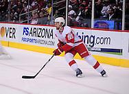 Feb. 6 2012; Glendale, AZ, USA; Detroit Red Wings against the Phoenix Coyotes  at Jobing.com Arena. Mandatory Credit: Jennifer Stewart-US PRESSWIRE.