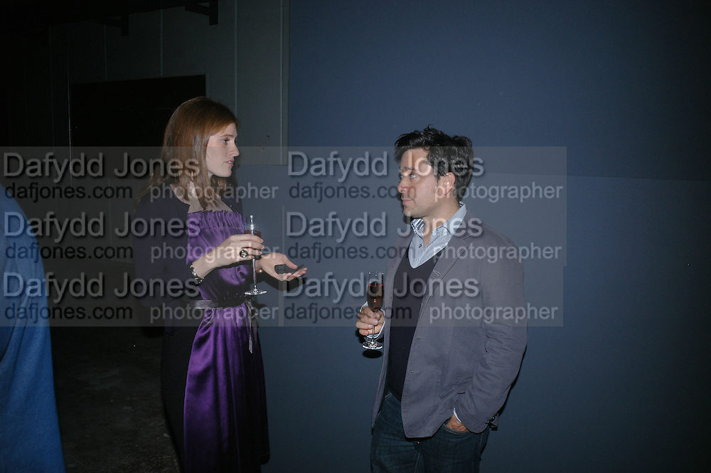 CARA SHEIBANI AND JAY OSGERBY, Dinner given by Established and Sons to celebrate Elevating Design.  P3 Space. University of Westminster, 35 Marylebone Rd. London NW1. -DO NOT ARCHIVE-© Copyright Photograph by Dafydd Jones. 248 Clapham Rd. London SW9 0PZ. Tel 0207 820 0771. www.dafjones.com.