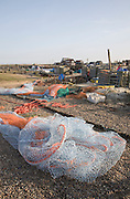 Fishing nets at Southwold quay, Suffolk, England