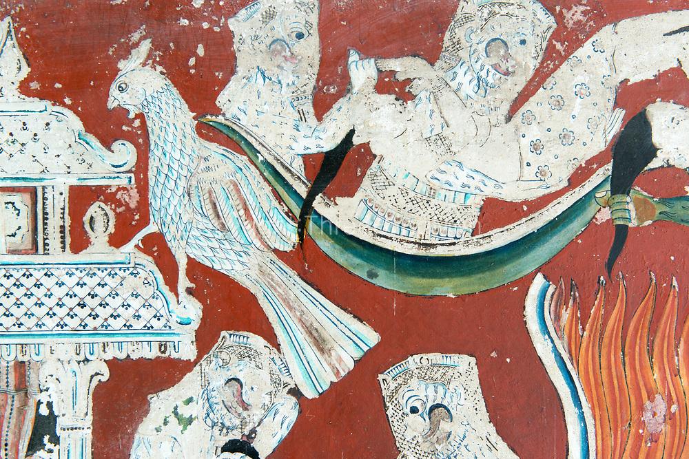Wall paintings within the inner ambulatory of the image house. The Shailabimbaramaya, Dodanduwa.