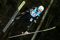 Saglien Ingebjoerg Braaten of Norway soaring through the air during 1st Round at Day 1 of World Cup Ski Jumping Ladies Ljubno 2019, on February 8, 2019 in Ljubno ob Savinji, Slovenia. Photo by Matic Ritonja / Sportida