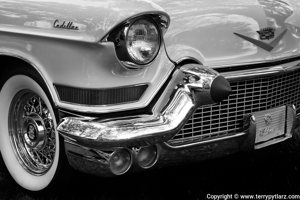 "1957 Cadillac ""Donna"" black and white"