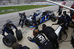 April 8, 2018 - Ft. Worth, Texas, United States of America - April 08, 2018 - Ft. Worth, Texas, USA: Jamie McMurray (1) brings his car down pit road for service during the O'Reilly Auto Parts 500 at Texas Motor Speedway in Ft. Worth, Texas. (Credit Image: © Chris Owens Asp Inc/ASP via ZUMA Wire)