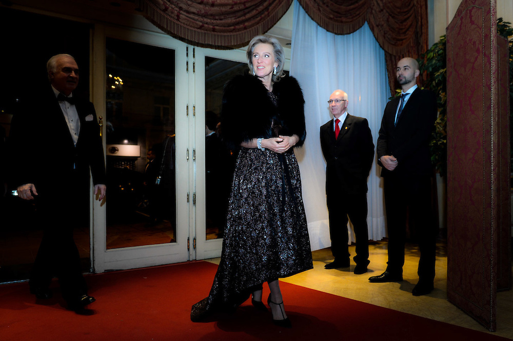 Brussels 30 January 2016<br /> <br /> Princess Astrid of Belgium as well as Charlotte Casiraghi attend a gala dinner organised by FXB International. FXB is a non-governmental organization which  invests in networks of the world &rsquo; s poorest people, providing the basic needs of life : housing, healthcare, education and food.<br /> <br /> Pix Princess Astrid <br /> <br /> Credit Melanie Wenger / Isopix