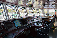 The cokpit of the Rainbow Warrior