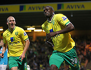 Picture by Paul Chesterton/Focus Images Ltd.  07904 640267.26/9/11.Leon Barnett of Norwich scores his sides 1st goal and celebrates during the Barclays Premier League match at Carrow Road stadium, Norwich.