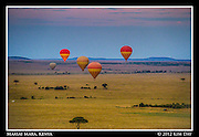 Balloons At Sunrise.Maasai Mara, Kenya.September 2012