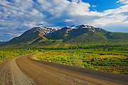 Ogilvie Mountains on the Dempster Highway near KM 72 close to the Tombstone Campground<br /> On the Dempster Highway<br /> Yukon<br /> Canada