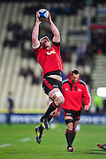 Matt Todd of the Crusaders warming up in the Super Rugby Qualifier game, Crusaders v Reds, at AMI Stadium, Christchurch, New Zealand, on the 20 July 2013. Photo:John Davidson/photosport.co.nz