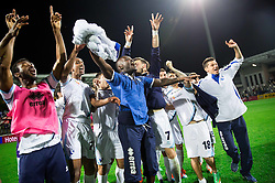 Players of Gorica celebrate after winning  during football match between NK Maribor and ND Gorica in Final of Slovenian Cup 2014 on May 21, 2014 in Stadium Bonifika, Koper, Slovenia. Photo by Vid Ponikvar / Sportida