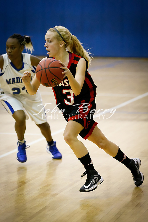 December/12/12:  MCHS Varsity Girls Basketball vs George Mason.  Madison loses to Mason 43-38.