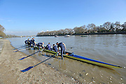 Putney, GREAT BRITAIN,  Tuesday Morning,  Oxford UBC boating for their  theTraining Outing, Tideway week ,on the championship course. Putney/Mortlake, Tuesday   03/04/2012 [Mandatory Credit, Peter Spurrier/Intersport-images]