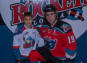 KELOWNA, CANADA - OCTOBER 28:  Pepsi Player of the Game with Dillon Dube #19 of the Kelowna Rockets at the Kelowna Rockets game on October 28, 2017 at Prospera Place in Kelowna, British Columbia, Canada.  (Photo By Cindy Rogers/Nyasa Photography,  *** Local Caption ***