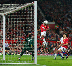 27.09.2011, Old Trafford, London, ENG, UEFA CL, Gruppe C, Manchester United (ENG) vs FC Basel (SUI), im Bild Manchester United's Antonio Valencia in action against FC Basel 1893 // during the UEFA Champions League game, group C, Manchester United (ENG) vs FC Basel (SUI) at Old Trafford stadium in London, United Kingdom on 2011/09/27. EXPA Pictures © 2011, PhotoCredit: EXPA/ Propaganda Photo/ David Rawcliff +++++ ATTENTION - OUT OF ENGLAND/GBR+++++