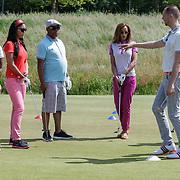 NLD/Abcoude/20120530 - Gekleurde bn' ers gaan multicultureeel golfen, Hind Laroussi Tahiri, Jasmine Sendar, Howard Komproe, Glennis Grace, Edsilia Rombley