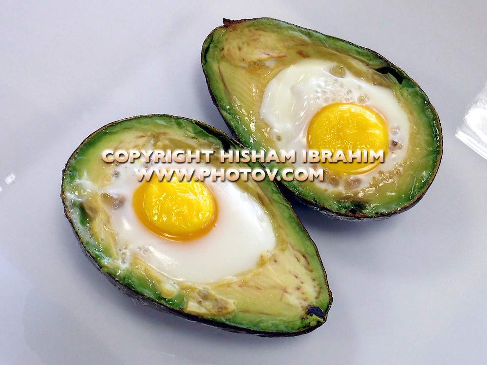 Baked Avocado and Eggs.