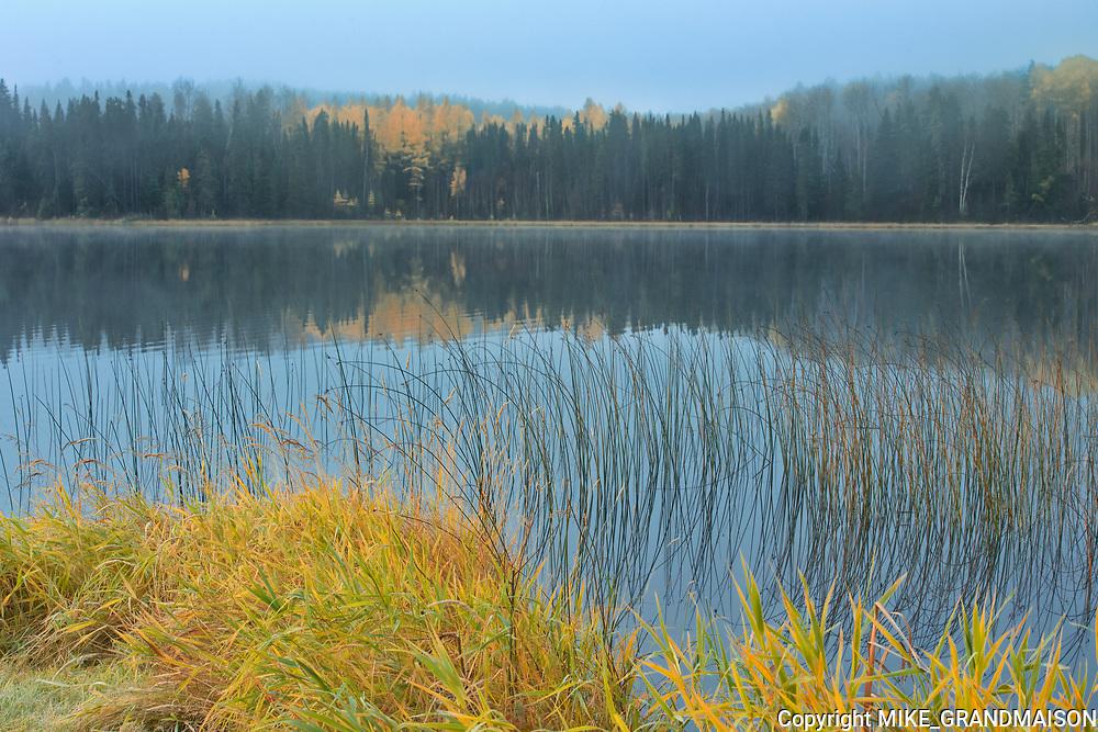 Fog on Klotz Lake<br />Near Longlac<br />Ontario<br />Canada