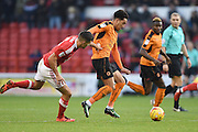 Wolverhampton Wanderers midfielder Helder Costa (17) (on loan from Benfica) during the EFL Sky Bet Championship match between Nottingham Forest and Wolverhampton Wanderers at the City Ground, Nottingham, England on 17 December 2016. Photo by Jon Hobley.