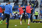 Brighton & Hove Albion winger Anthony Knockaert (11) in warm up during the EFL Sky Bet Championship match between Brighton and Hove Albion and Birmingham City at the American Express Community Stadium, Brighton and Hove, England on 4 April 2017. Photo by Phil Duncan.