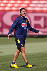August 3, 2010; San Francisco, CA, USA;  Club America midfielder Israel Martínez (8) practices at Candlestick Park a day before their match with Real Madrid.