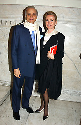 SIRDAR ALY AZIZ and MRS ISABELLA CLEMENTE at a party to celebrate the publication of Andrew Robert's new book 'Waterloo: Napoleon's Last Gamble' and the launch of the paperback version of Leonie Fried's book 'Catherine de Medici' held at the English-Speaking Union, Dartmouth House, 37 Charles Street, London W1 on 8th February 2005.<br />