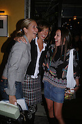 Tanya Bryer, Heather Kerzner and Tamara Mellon. 'Pret-a-Portea'M.A.C. launches High Tea collection with British fashion designers. Berkeley Hotel. 17 January 2004. ONE TIME USE ONLY - DO NOT ARCHIVE  © Copyright Photograph by Dafydd Jones 66 Stockwell Park Rd. London SW9 0DA Tel 020 7733 0108 www.dafjones.com