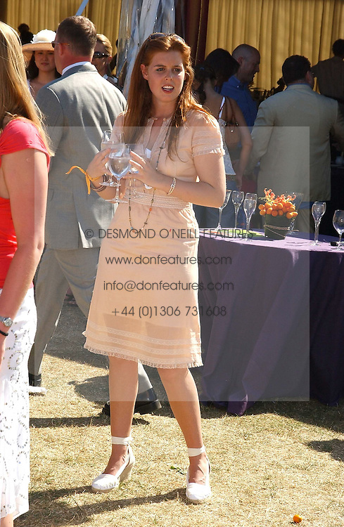 HRH PRINCESS BEATRICE OF YORK at the Veuve Clicquot sponsored Gold Cup Final or the British Open Polo Championship held at Cowdray Park, West Sussex on 17th July 2005.<br /><br />NON EXCLUSIVE - WORLD RIGHTS