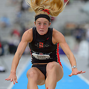 The USA track & field championships in Des Moines, Iowa-Day 2:  Heptathlete Allison Reaser in the long jump.