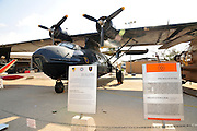 Israel, Hazirim, near Beer Sheva, Israeli Air Force museum. The national centre for Israel's aviation heritage. Israeli Air Force PBY-6A Catalina flying boat