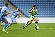 Forest Green Rovers Omar Bugiel(11) runs forward during the EFL Sky Bet League 2 match between Coventry City and Forest Green Rovers at the Ricoh Arena, Coventry, England on 17 October 2017. Photo by Shane Healey.