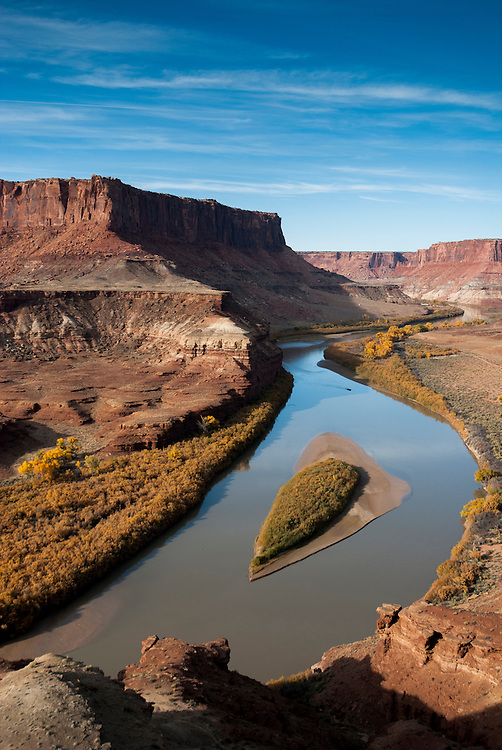 Views of the Green River in autumn while touring the White Rim Trail near Moab, Utah.